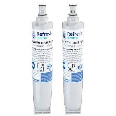 Refresh Replacement Water Filter Fits Whirlpool 4396508P Refrigerators (2 Pack)