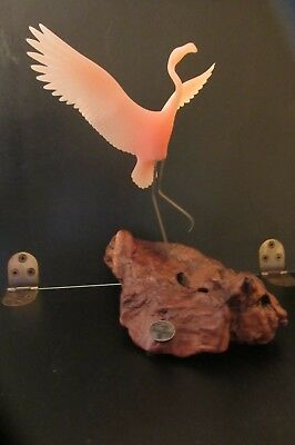 Vintage John perry flamingo on driftwood