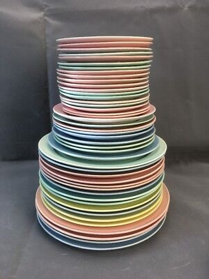 LuRay Pastels Plates - 5 Sizes, 4 Colors. CHOICE