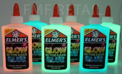 Elmers Glow In The Dark Color Glitter Glue 4 Pack Blue Pink