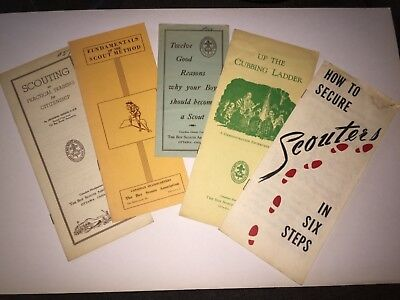 Scouts Canada  Five Vintage  pamphlets. 1950's -1960's