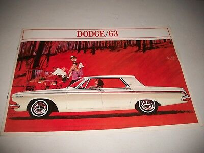 1963 Big Dodge Car 440 330 220 Sales Brochure Catalog Canadian Market  Issue