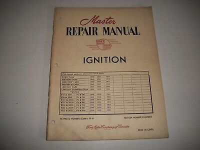 """1949-1951 Ford Master Repair Manual-""""ignition"""" Ford Meteor Mercury Lincoln Truck"""