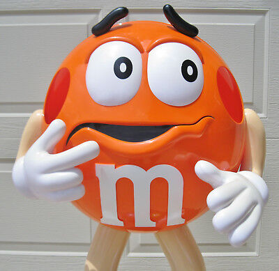 M&M Orange 3ft Candy Character Store Display On Caster Wheels
