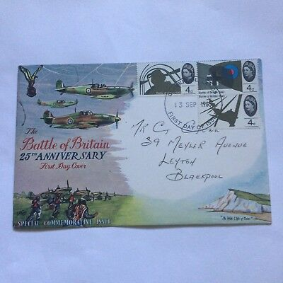 Battle Of Britain Stamp Cover cancelled 1965
