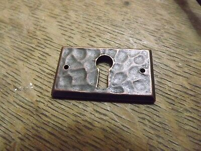 mission keyhole cover hammered mission brass cover