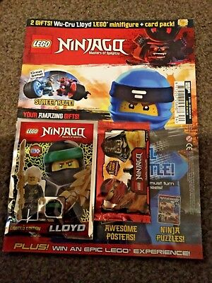 Lego Ninjago Magazine ISSUE 34 With Limited Edition LLOYD MINIFIGURE + Card Pack