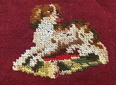 Wool embroidered Cavalier King Charles spaniel, England, 1800s