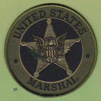 """UNITED STATES MARSHAL POLICE SHOULDER PATCH (Subdued -Green) 4"""""""