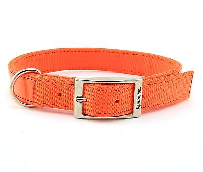 "REMINGTON 1"" DT Nylon Reflective Hunting Dog Collar, Extended-D, Orange"