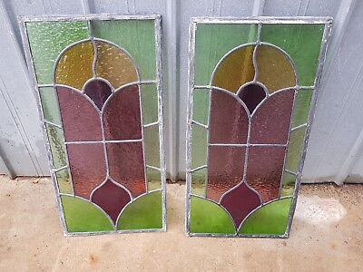 2 Leadlight/stained Glass Panels