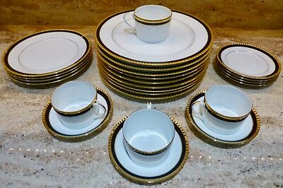 Tiffany & Co - Black Band - Limoges - Pick The Items You Want - Plates - Cups ++