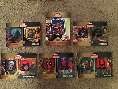 2016 Marvel Annual Rocket Manufactured Patch Lot Of 6 Cards Single Dual Deadpool