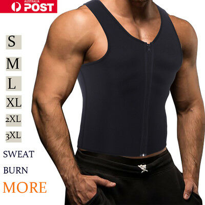 Sport Men Waist Trainer Neoprene Hot Body Shaper Vest with Sauna Suit Effect G33