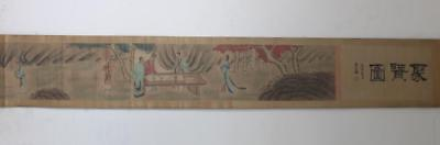 Very Rare Old Chinese Hand Painting Scroll Pan Zhenyong 425Cm (182)