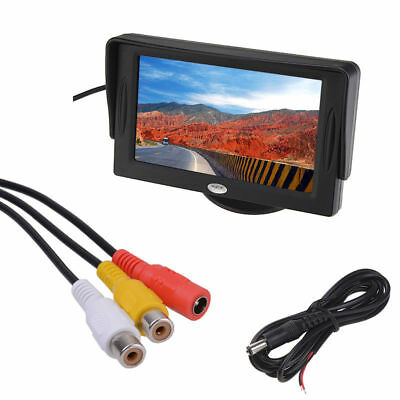 """DC 12V 4.3"""" TFT Screen Car Reverse Rear View Security Monitor DVD VCR For Camera"""