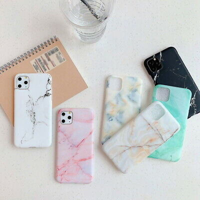 Granite Marble Patterned Soft Silicone TPU Case Cover For iPhone XS Max XR 7 8 6