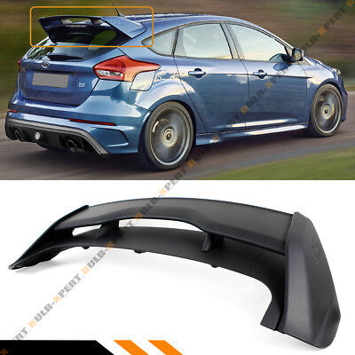 For 2012-2018 Ford Focus St Hatchback Rs Primer Blk Style Rear Roof Spoiler Wing