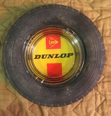 Vintage Dunlop Australia Novelty Tyre Ashtray Excellnt cond
