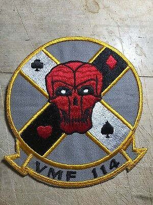 WWII/POST/Cold War? USMC PATCH-All-Weather Fighter Squadron VMF-114-ORIGINAL!