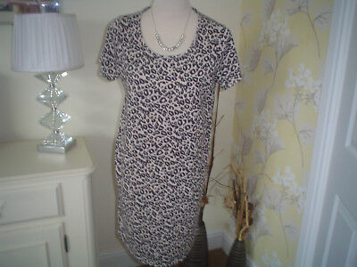 Lovely Next Maternity Top Size 10 Short Sleeved Animal Print Design  For Summer
