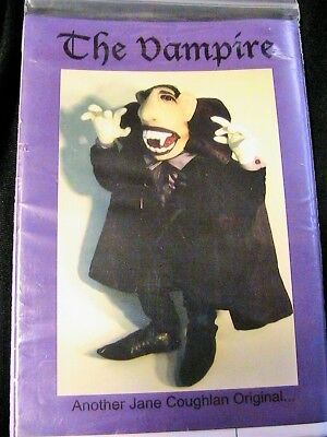 """THE VAMPIRE~Jane Coughlan *RARE OOP 20""""  whimsical cloth art doll pattern"""