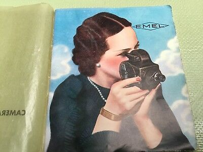 Rare Made Paris Collectable Emel 8mm C 85 Movie Camera Instruction Manual qzzq
