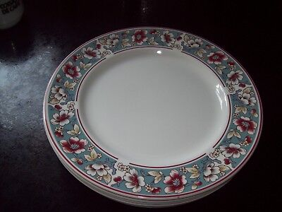 """6 X Johnson Brothers Malvern Dinner Plates 10"""" - Immaculate Condition"""