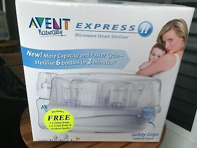 Avent Express Microwave Steam Steriliser - perfect condition