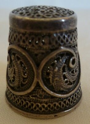 Sterling Silver Filigree Work Thimble