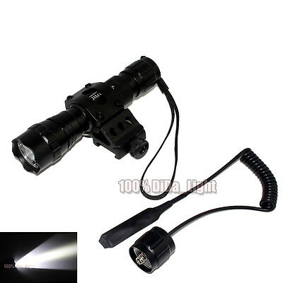 UltraFire Tactical 501B CREE R5 LED 1Mode Flashlight + Pressure Switch Mount Set