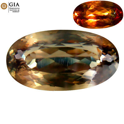 """12.80 ct """"GIA CERTIFIED"""" NATURAL YELLOWISH GREEN TO PINK BROWN COLOR DIASPORE"""