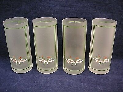 Johnson Brothers Eternal Beau 4 x Frosted Highball Tumblers