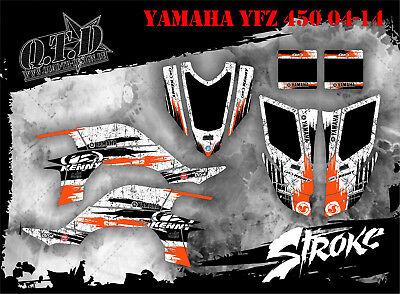 Scrub Dekor Kit Atv Yamaha Yfz 450 04-14  Graphic Kit Stroke-Kenny B
