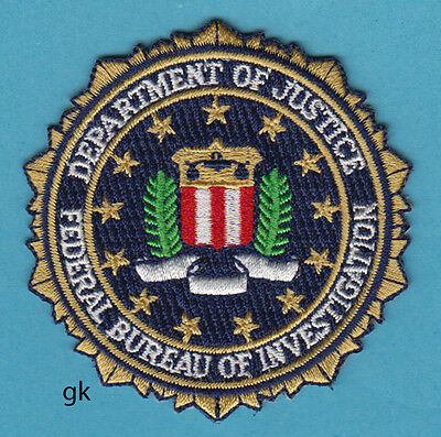 """Department Of Justice  Fbi Seal Police   Patch  ( 2 7/8"""" )"""