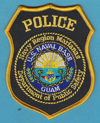 Us Navy Marianas Naval Base Guam Dps  Police Shoulder Patch
