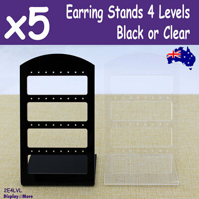 BEST SELLING 5X Earring Holder Stand   Black or CLEAR Acrylic   AUSSIE Seller