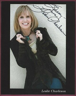 """Leslie Charleson, Actress, Signed 8"""" x 10"""" Color Photo, COA, UACC RD 036"""