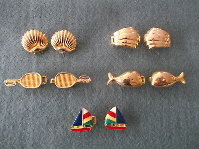 Dotty Smith Belt Buckle - (5) Scallop,Shell,Tennis Rackets,Whales,Sailboat & pin