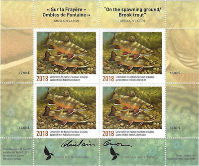 2018 Canada Quebec  Conservation - DQ88s signed  Mint NH Block of 4 stamps