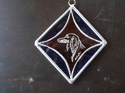 Saluki- Beautifully Hand engraved ornament by Ingrid Jonsson