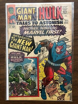 Vg- Tales To Astonish #65 1St New Giant Man Costume (Original Owner)