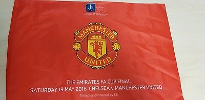 Official 2018 Manchester United  FA Cup final flag.POST ONLY TO UK
