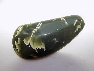 Antique/vtg New Zealand Maori Jade Nephrite Green Stone Mussel Shell Pendant