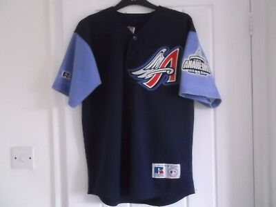 Los Angeles Anaheim Angles Baseball Shirt Medium Size 42 Inch Chest Russell Make