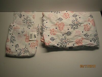 Fitted Crib Sheet - Cloud Island - Navy/Pink