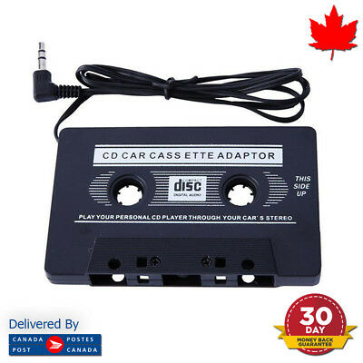 3.5MM Car Cassette Tape Adapter Converter Auto For Iphone Ipod MP3 AUX CD DVD