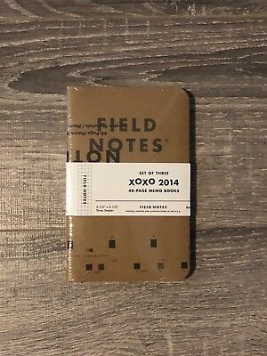 Field Notes XOXO 2014 - Glitch - Unopened 3-pack - Rare Limited Edition