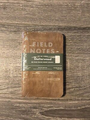 Field Notes FNC-22 Shelterwood - Limited Edition 3-pack - Unopened