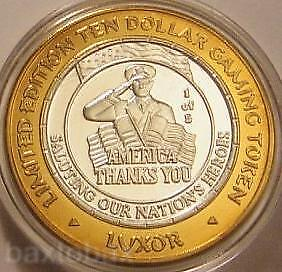 LUXOR  Silver Strike  AMERICA THANKS NATION'S HEROES